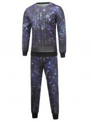 Long Sleeve Galaxy Sweatshirt and Jogger Pants Twinset