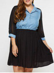 Plus Size See Thru Mini Dress - BLACK 5XL