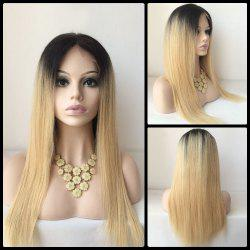 Long Middle Part Lace Front Straight Human Hair Wig