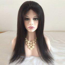 Yaki Straight Lace Front Long Human Hair Wig -
