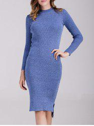Long Sleeve Fitted Jumper Dress