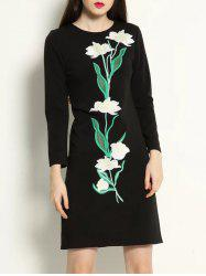 Embroidery Long Sleeve Dress