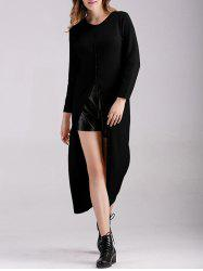Long Button Up Fitted Cardigan -
