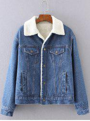 BF Fleece Jean Jacket with Sleeves - DEEP BLUE