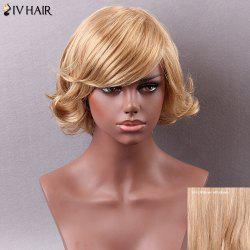 Siv Hair Short Side Bang Curly Human Hair Wig