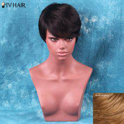Siv Hair Short Side Bang Straight Human Hair Wig