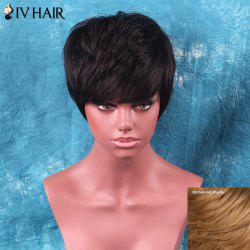 Siv Hair Fluffy Short Neat Bang Straight Human Hair Wig