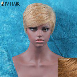 Siv Hair Shaggy Short Side Bang Straight Human Hair Wig