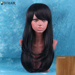 Siv Hair Long Side Bang Layered Tail Adduction Human Hair Wig