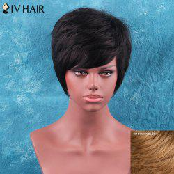 Siv Hair Short Side Bang Towheaded Straight Human Hair Wig