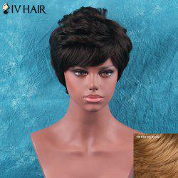 Siv Hair Short Side Bang Towheaded Curly Human Hair Wig