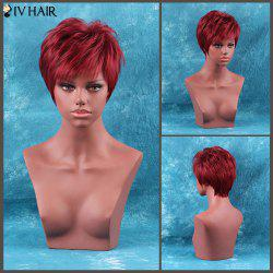 Short Full Bang Fluffy Straight Siv Hair Human Hair Wig