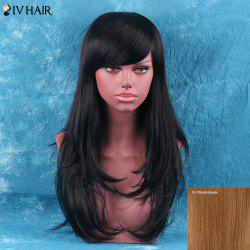 Siv Hair Long Side Bang Fluffy Layered Tail Adduction Human Hair Wig