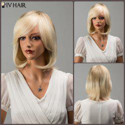 Siv Hair Fascinating Short Side Bang Straight Human Hair Wig -
