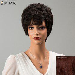 Siv Hair Short Side Bang Fluffy Wavy Human Hair Wig