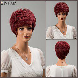 Siv Hair Short Neat Bang Fluffy Curly Human Hair Wig