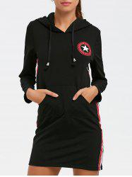 Star Graphic Mini Hoodie Dress