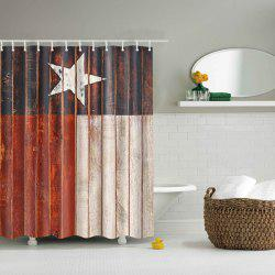 Color Block Star Waterproof Polyester Shower Curtain -