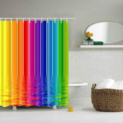 Colorful Waterproof Polyester Bathroom Shower Curtain - COLORFUL