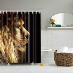 3D Lion Design Mouldproof Waterproof Bath Shower Curtain - COLORMIX