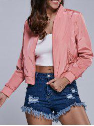 Zipper Cropped Pilot Jacket -