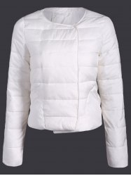Double Pocket Short Slim Quilted Jacket -