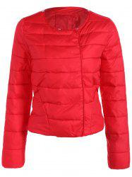 Double Pocket Short Slim Quilted Jacket