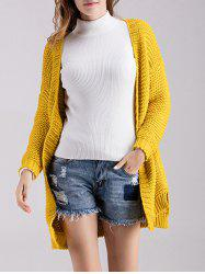 Chunky Knitted Open Front Cardigan