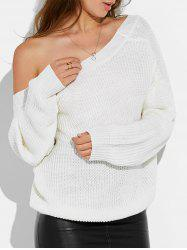 Backless Drop Shoulder Sweater