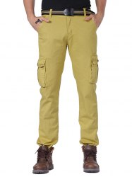 Multi Pockets Cargo Pants with Straight Leg -