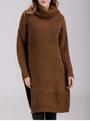 Long Sleeve Chunky Polar Neck Jumper Dress