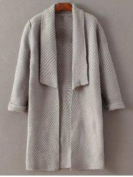 Open Front Shawl Collar Fitting Cardigan -