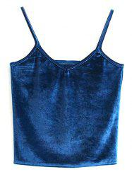 Velvet Cami Cropped Tank Top