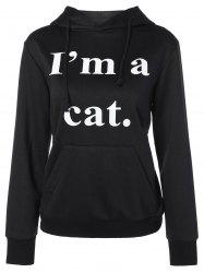 Graphic Cat Pullover Hoodie