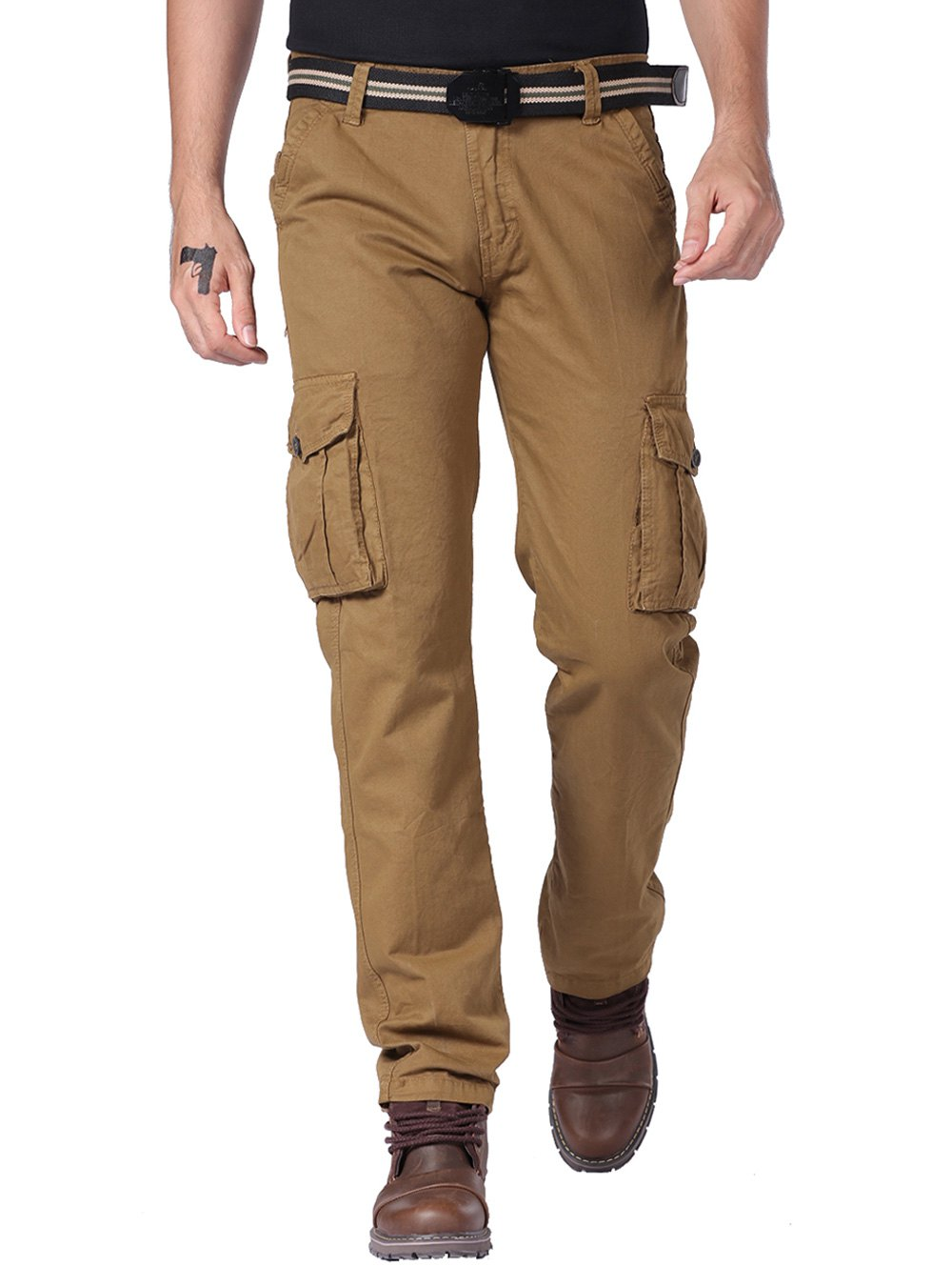 Shop Zipper Fly Cargo Pants with Multi Pockets