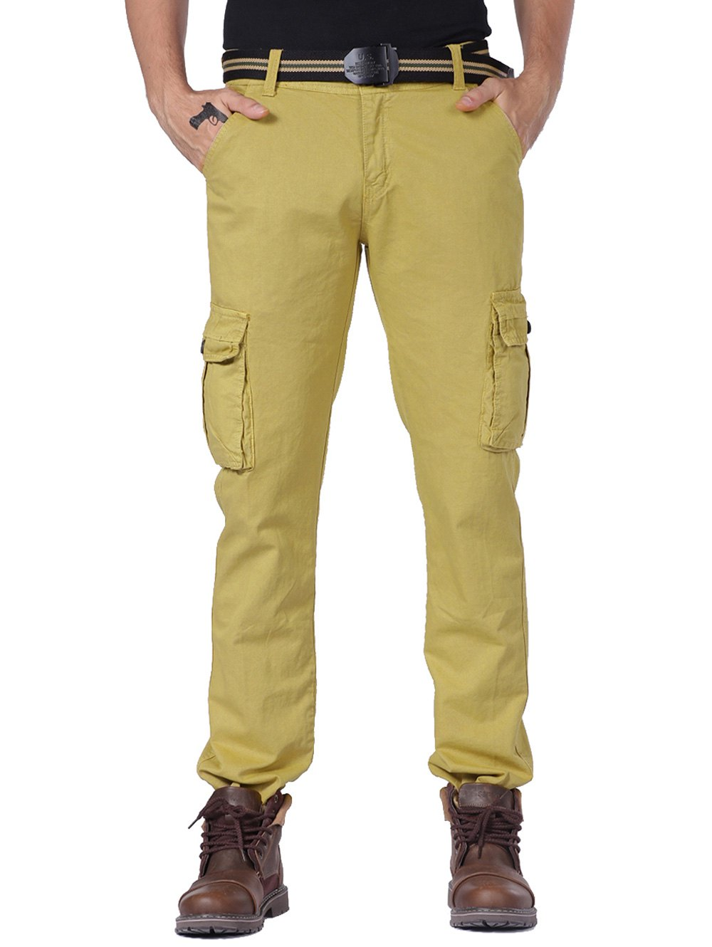 Hot Multi Pockets Cargo Pants with Straight Leg