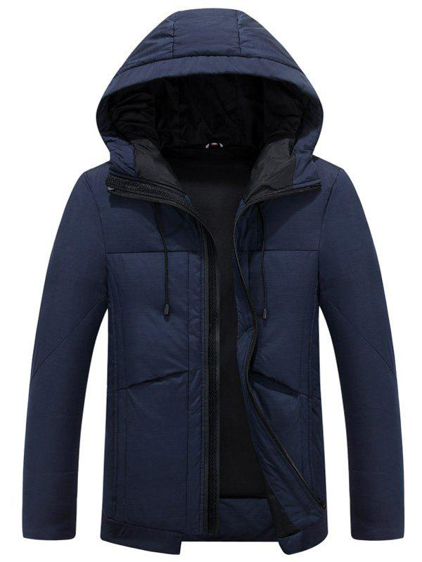 Latest Hooded Drawstring Design Thicken Zip Up Down Jacket