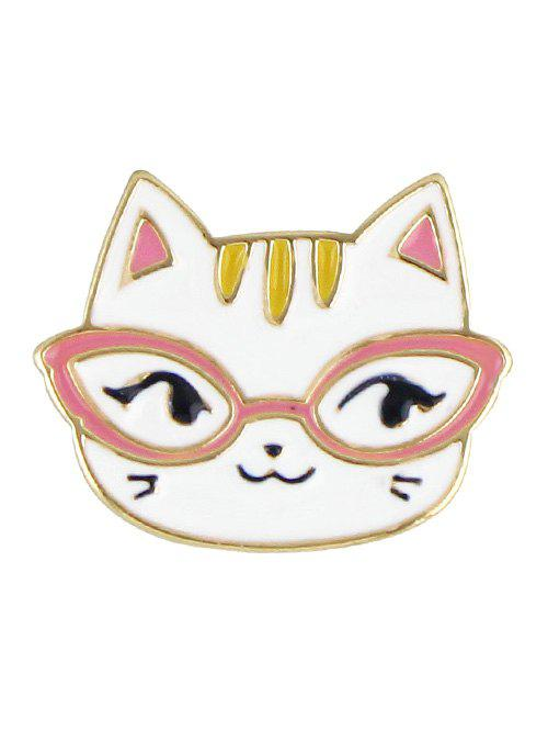 Kitten BroochJEWELRY<br><br>Color: WHITE; Brooch Type: Brooch; Gender: For Women; Style: Trendy; Shape/Pattern: Animal; Length: 2.3CM; Weight: 0.020kg; Package Contents: 1 x Brooch;