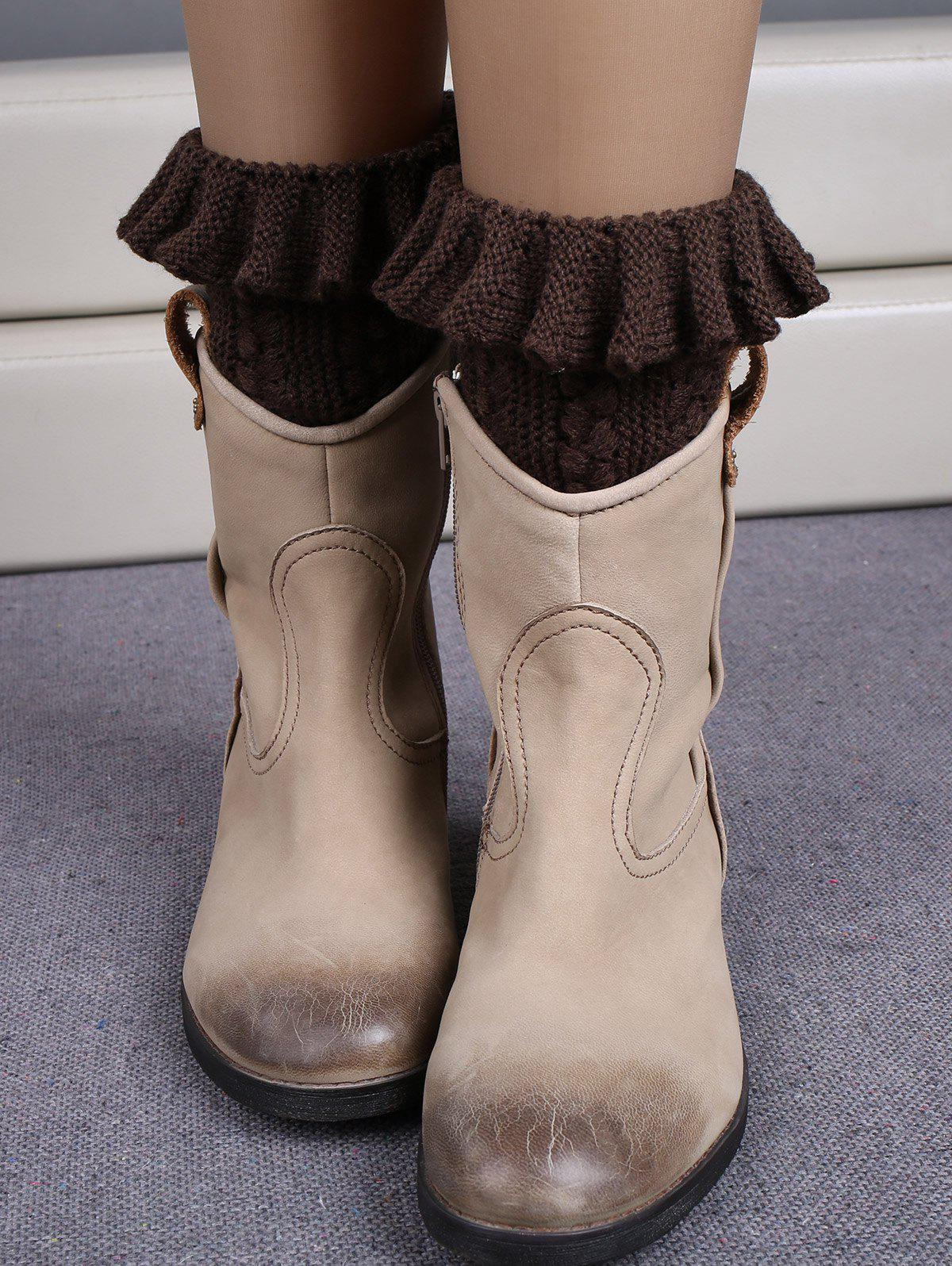 Cheap Winter Laciness Knit Boot Cuffs
