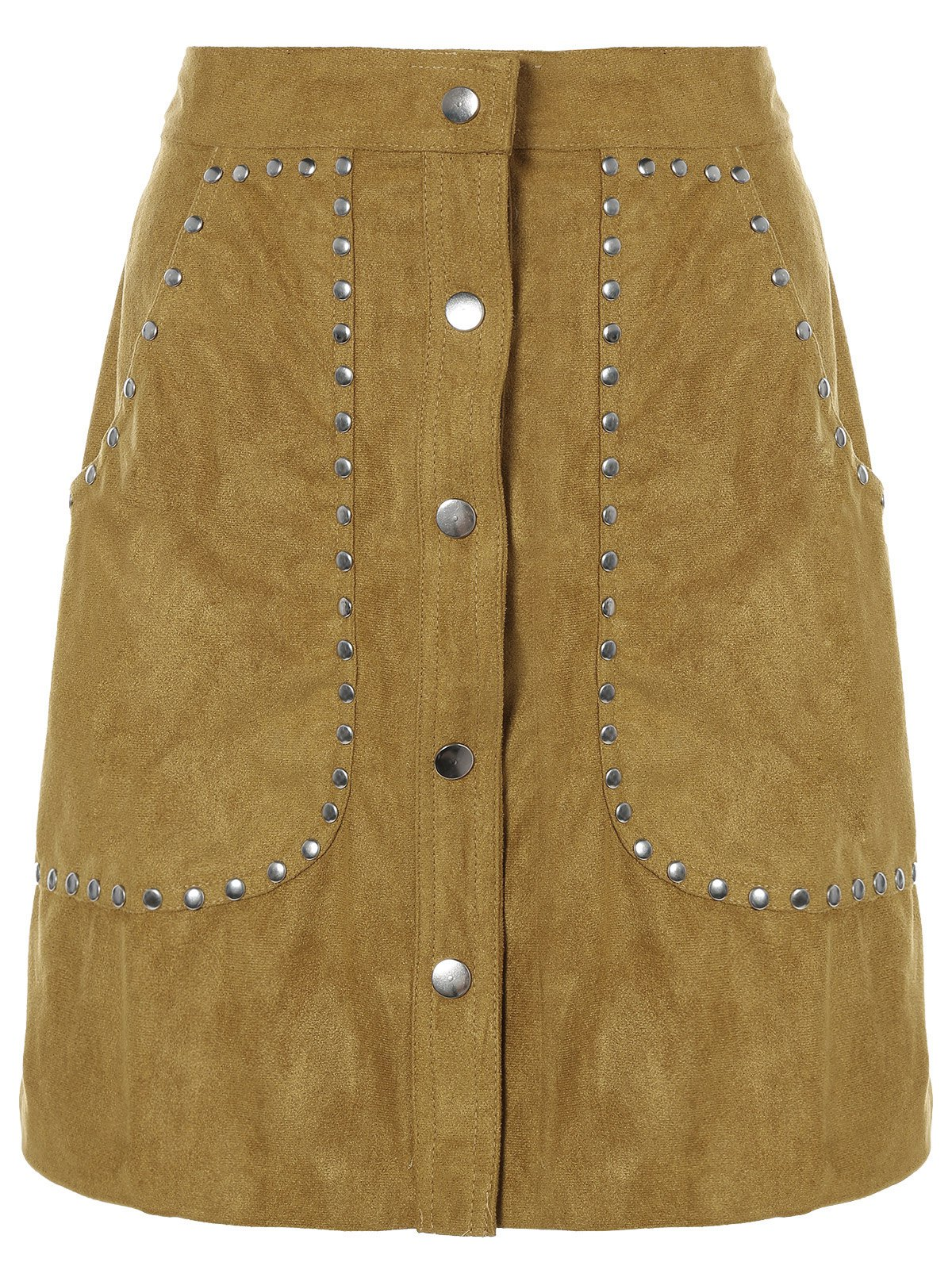 Buy Rivet Sueded A Line Skirt