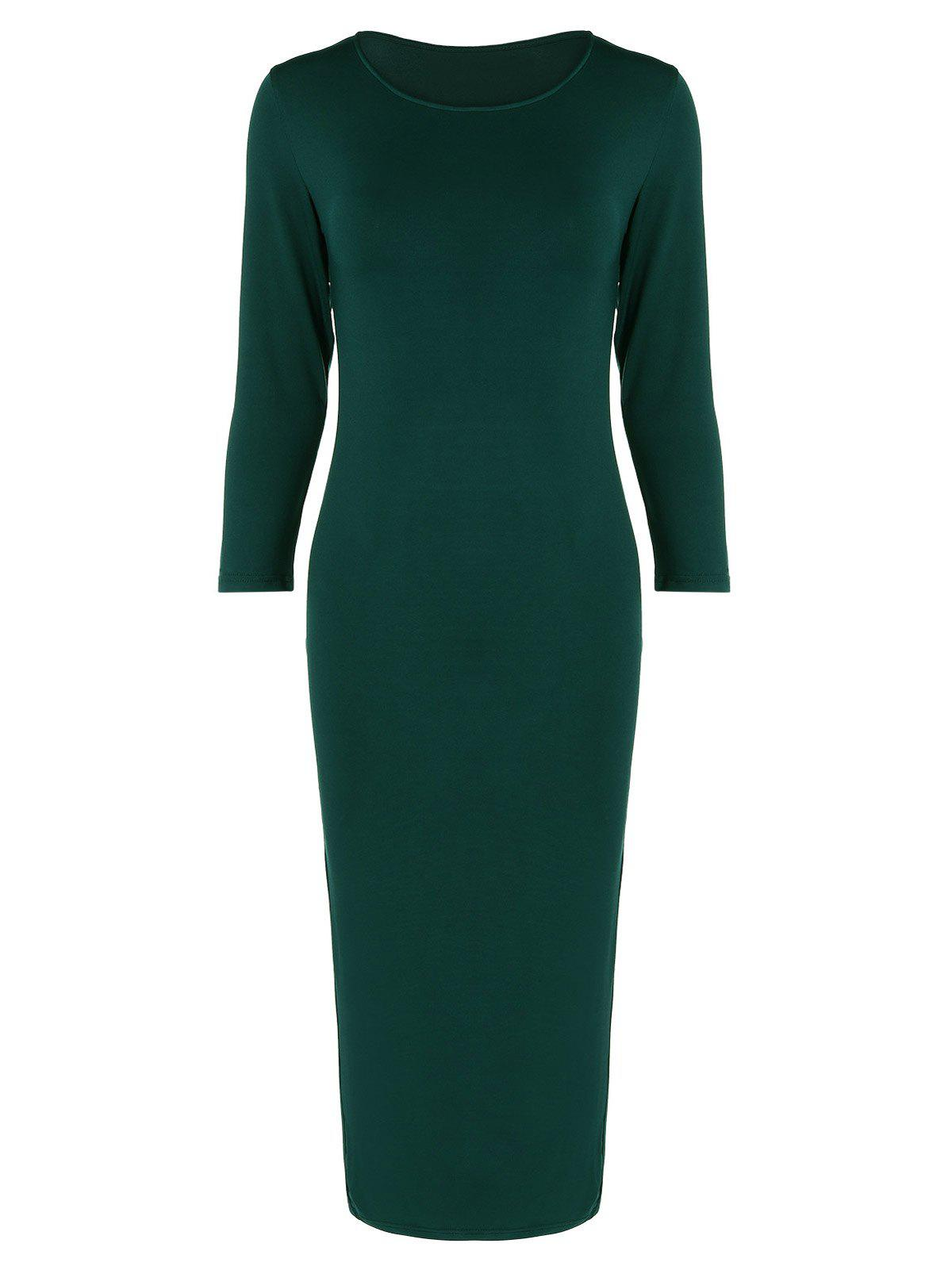 Outfit Long Sleeve Slim Fitted Midi Dress