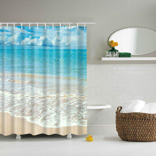 Mouldproof Waterproof Beach Bath Shower CurtainHOME<br><br>Size: L; Color: COLORMIX; Type: Shower Curtains; Material: Polyester; Weight: 0.540kg; Package Contents: 1 x Shower Curtain;