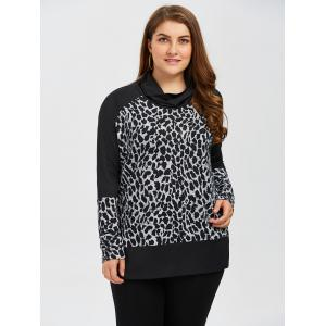Plus Size Leopard Side Slit Top -