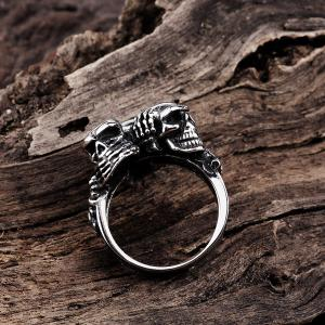 Engraved Alloy Devil Skull Ring -