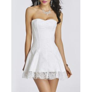 Lace-Up Short Skater Corset Dress