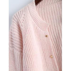 Studded Chunky Cardigan - PINK ONE SIZE