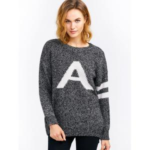 A Letter Pullover Sweater -