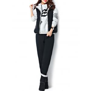 Varsity Striped Printed Three Piece Gym Suit