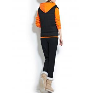 Fleece Hooded Graphic Three Piece Gym Suit -