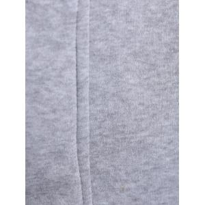 Casual Double Zippers Plus Size Hoodie - LIGHT GRAY 2XL